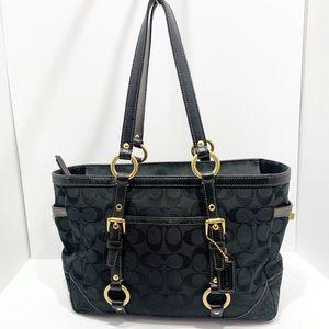 Coach Signature Gallery Tote Shoulder Bag vintage